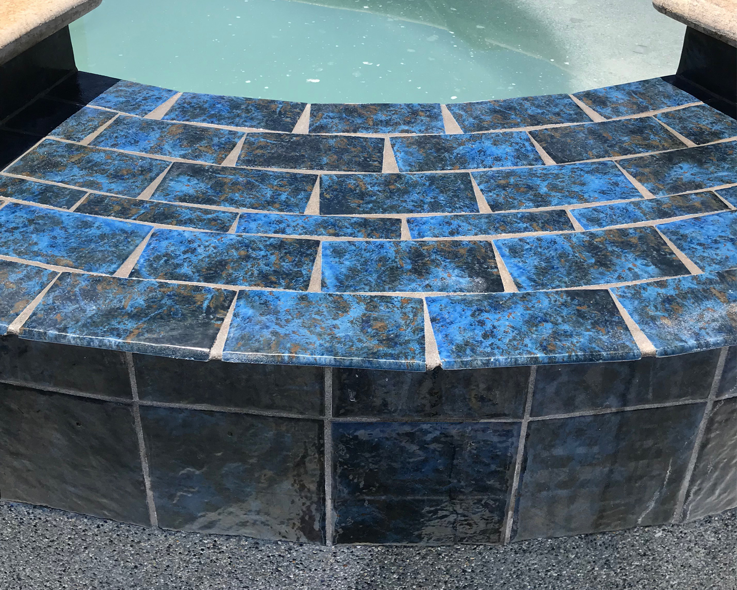 Pool Tile Cleaning after 1